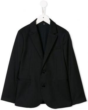 Пиджак на пуговицах с подкладкой из вискозы с лацканами Emporio Armani Kids