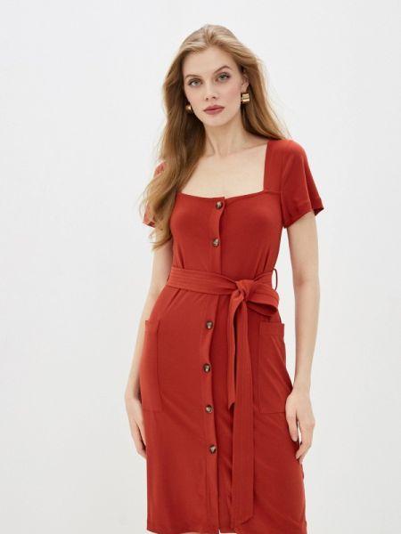 Повседневное платье французский красный French Connection