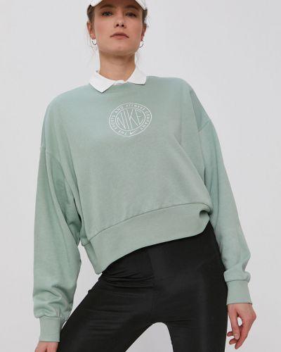 Zielona bluza z kapturem bawełniana Nike Sportswear
