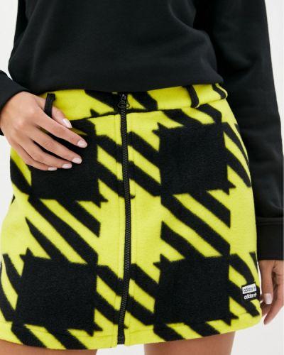 Желтая юбка Adidas Originals