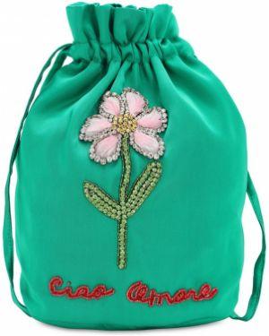 Ażurowa zielona kopertówka Giada Benincasa