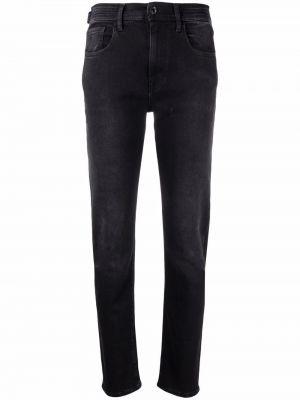 Джинсовые зауженные джинсы - черные Jacob Cohen
