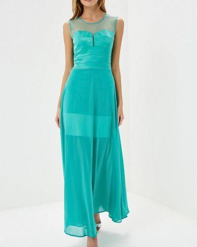 Вечернее платье бирюзовый осеннее Ricamare
