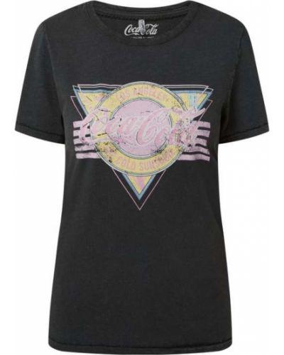Czarna t-shirt bawełniana z printem Only