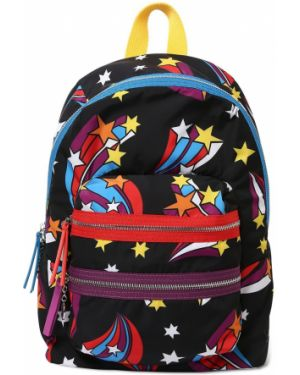 Czarny plecak z nylonu z printem Stella Mccartney Kids