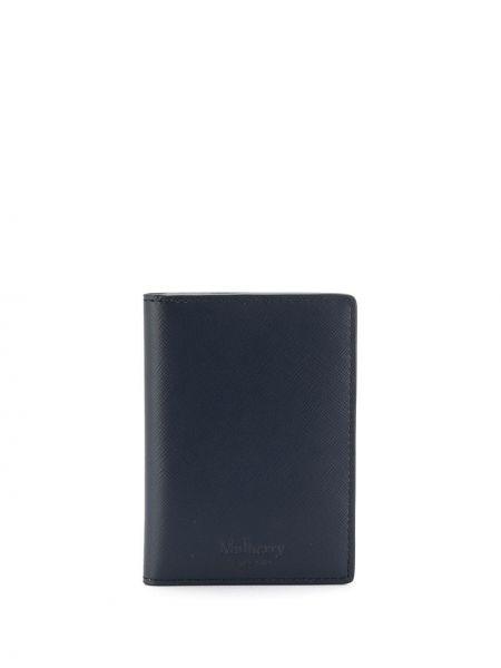 Ciemnoniebieski portfel z kieszeniami z prawdziwej skóry Mulberry