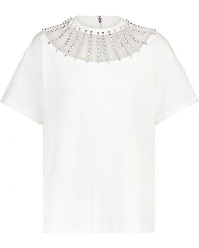 Biały bawełna bawełna koszula na uroczystość Christopher Kane