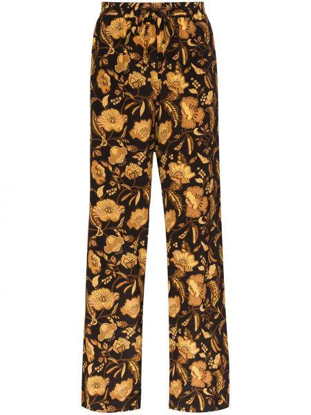 Черные свободные брюки с поясом Matteau