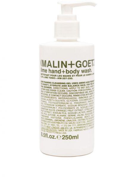 Zielony body skórzany z printem Malin+goetz