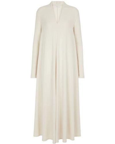 Белое платье макси из штапеля Max Mara
