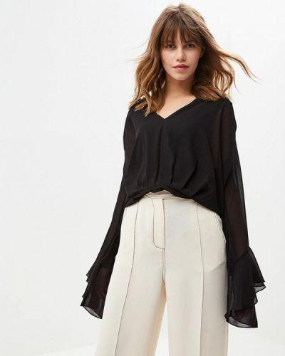 Блузка с длинным рукавом черная итальянский Met