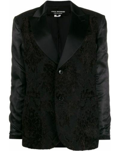 Прямой черный пиджак с карманами Junya Watanabe