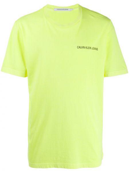 Koszula krótkie z krótkim rękawem dżinsowa prosto Calvin Klein Jeans