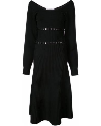 Платье с вырезом черное Prabal Gurung