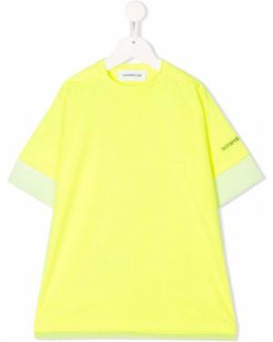 Желтая с рукавами футболка оверсайз Scrambled Ego