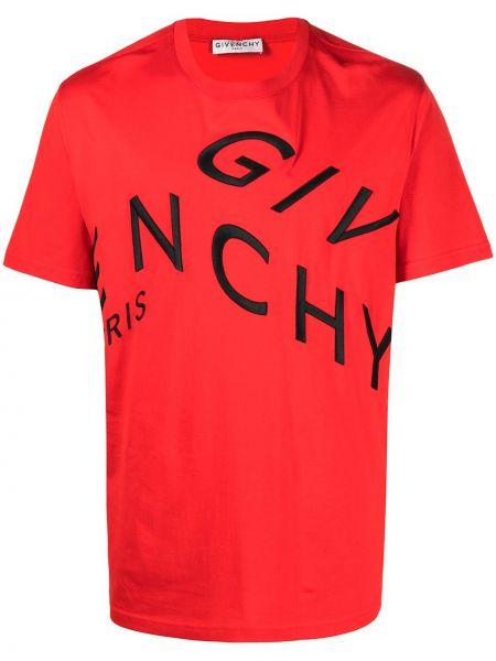 Bawełna koszula krótkie rękawy z haftem okrągły Givenchy