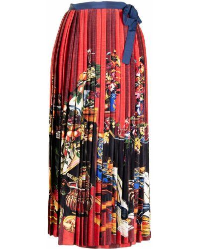 Красная юбка из вискозы Stella Jean