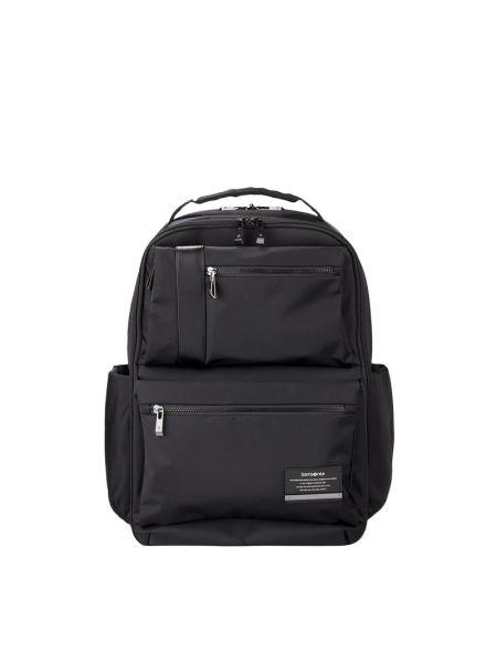 Czarny plecak na laptopa z nylonu Samsonite
