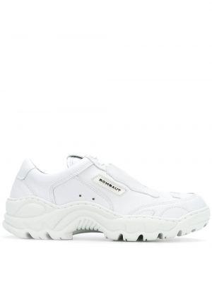 Białe sneakersy sznurowane koronkowe Rombaut
