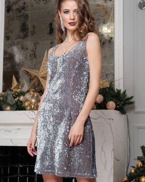 Платье мини с пайетками с декольте Leleya