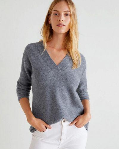 Серый пуловер 2018 Mango