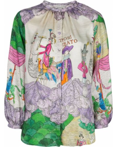 Блузка с длинным рукавом в полоску батник Tsumori Chisato