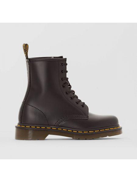 Ботинки на шнуровке кожаные высокие Dr Martens