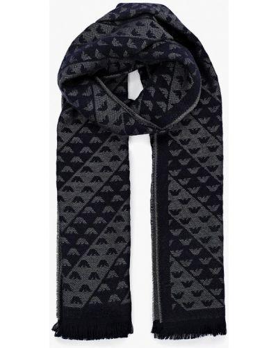 Синий шарф итальянский Emporio Armani