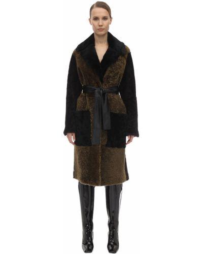 Пальто из овчины - коричневое Proenza Schouler