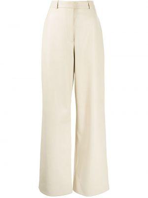 Кожаные брюки - белые Rosetta Getty
