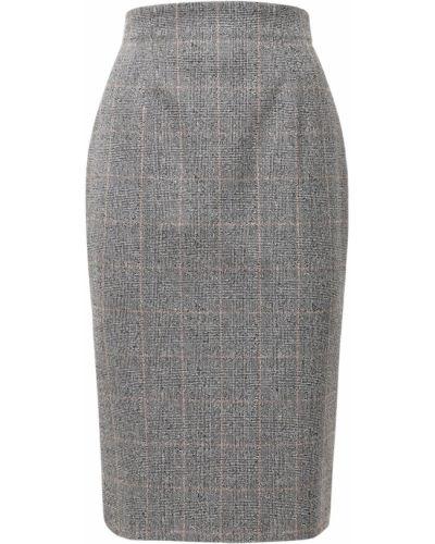 Серая юбка карандаш с разрезом на молнии Alexander Mcqueen