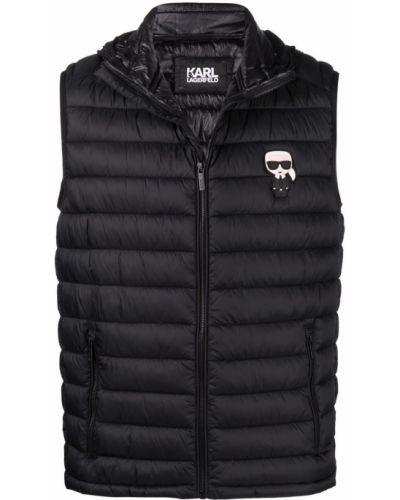 Черная жилетка без рукавов Karl Lagerfeld