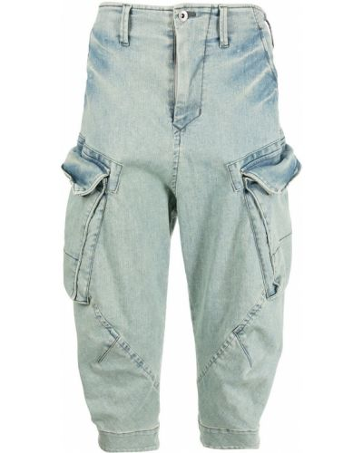 Niebieskie mom jeans bawełniane Julius