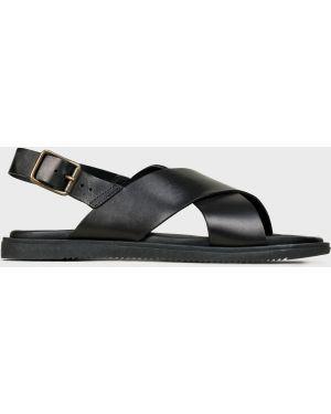 Кожаные сандалии - черные Corneliani