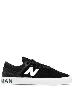 Кожаные ажурные черные кожаные кроссовки на шнуровке Junya Watanabe Man