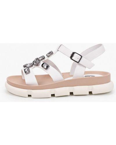 Белые кожаные сандалии Graciana