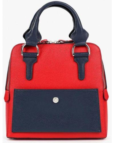 Кожаная сумка красная итальянский Madeleine