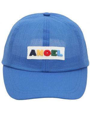Niebieski kapelusz z haftem Angel Chen