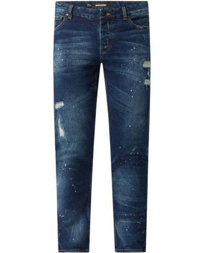 Niebieskie jeansy rurki bawełniane Raizzed