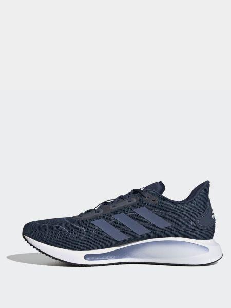 Текстильные синие кроссовки беговые для бега Adidas