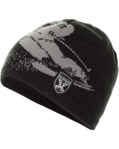 Вязаная шапка спортивная на флисе Glissade