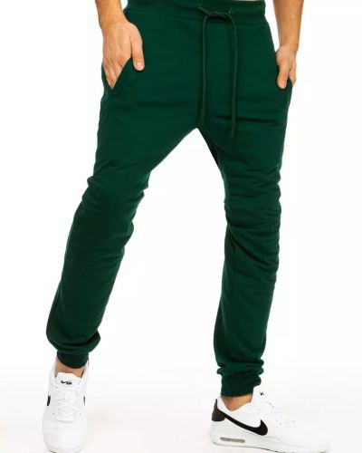 Zielone joggery bawełniane na co dzień Dstreet