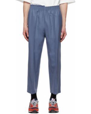 Облегченные синие укороченные брюки пэчворк со стразами Camiel Fortgens