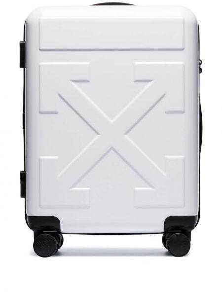 Белый дорожная сумка на молнии эластичный Off-white