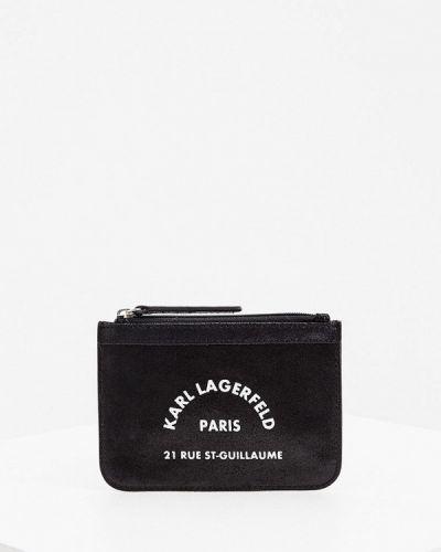 Черный кожаный кошелек Karl Lagerfeld Kids