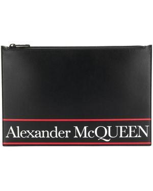 Клатч кожаный на молнии Alexander Mcqueen