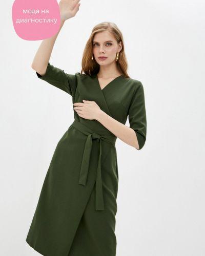 Зеленое платье с запахом Imocean