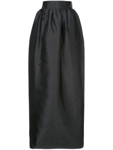 Czarna spódnica maxi z wysokim stanem The Row