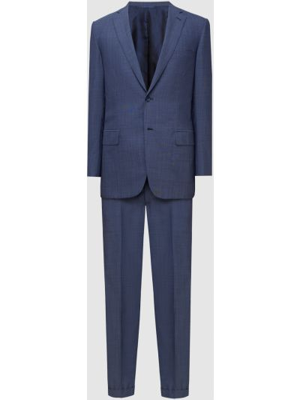 Шерстяной костюм - синий Brioni