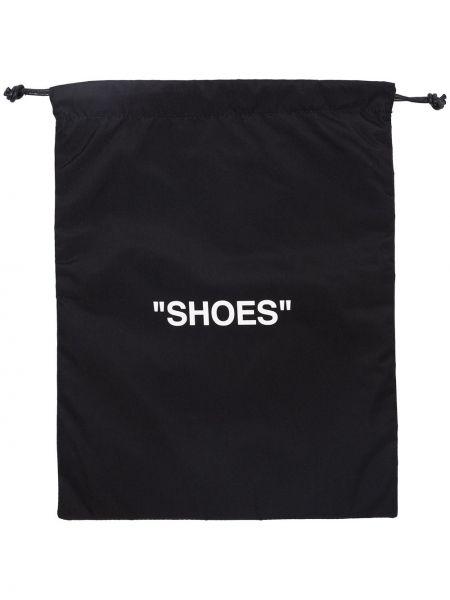 Czarne półbuty z printem Off-white
